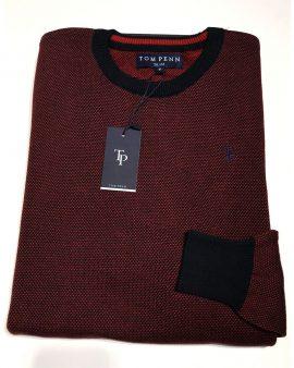 Tom Penn Bonner Knit Navy Red
