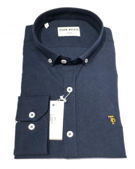 Tom Penn 330 Slim Fit Shirt Navy