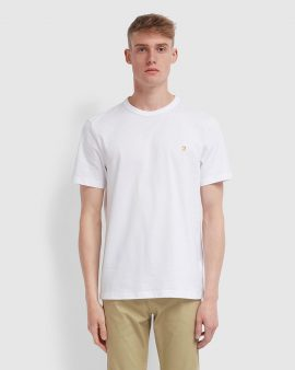 Farah Danny Slim Fit Organic Cotton T-Shirt White