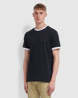 Farah Groves Slim Fit Ringer T-Shirt True Navy