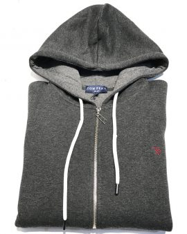 Tom Penn Full Zip Hoodie Grey