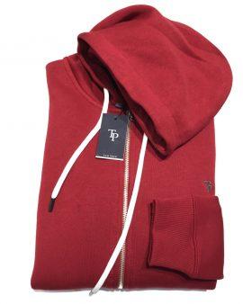 Tom Penn Full Zip Hoodie Red