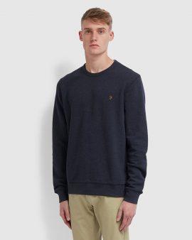 Farah Tim Crew Neck Sweatshirt True Navy