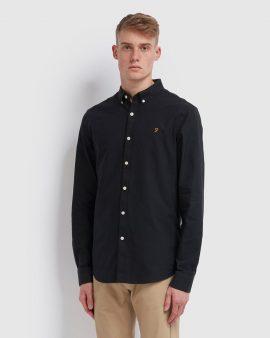 Brewer Slim Fit Oxford Shirt Black Ink
