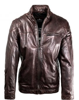 Milestone Scott Dark Brown Handcrafted Lamb Nappa Leather Jacket