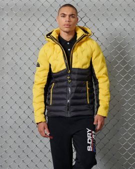 Superdry Radar Quilt Fuji Jacket Cyber Yellow