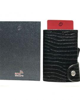 C-Secure Cardholder Croco Black