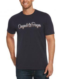 Penguin 3D Script Logo T-Shirt Dark Sapphire