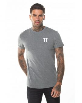 11 Degrees Core Muscle Fit T-Shirt Charcoal