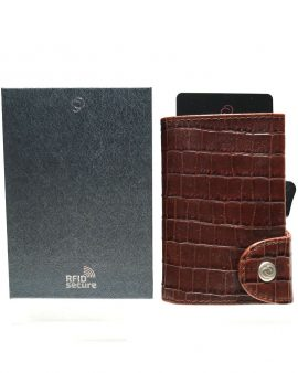 C-Secure Cardholder Croco Brown