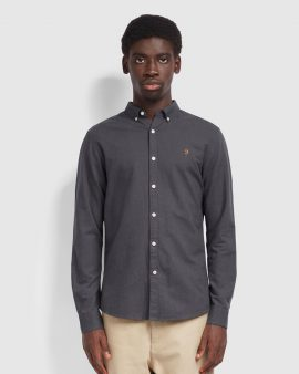 Brewer Slim Fit Oxford Shirt Farah Grey