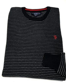 Tom Penn O'Neill Knit Navy Grey