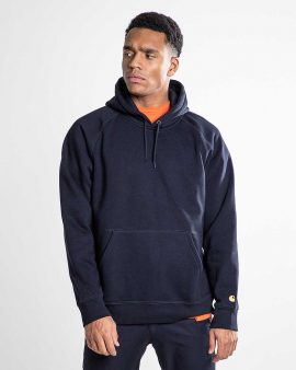 Carhartt Hooded Chase Sweat Dark Navy Gold