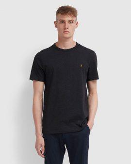 Farah Danny Slim Fit Organic Cotton T-Shirt Black