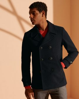 Superdry Double Breasted Peacoat Navy