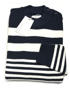 Casual Friday Navy Crew-Knit