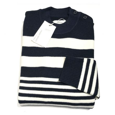 Casual Friday Navy Crew-Knit