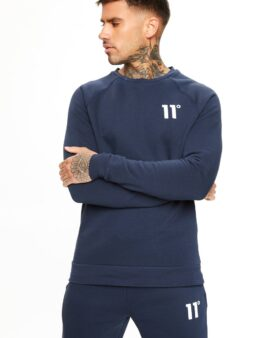 11 Degrees Core Sweat Navy