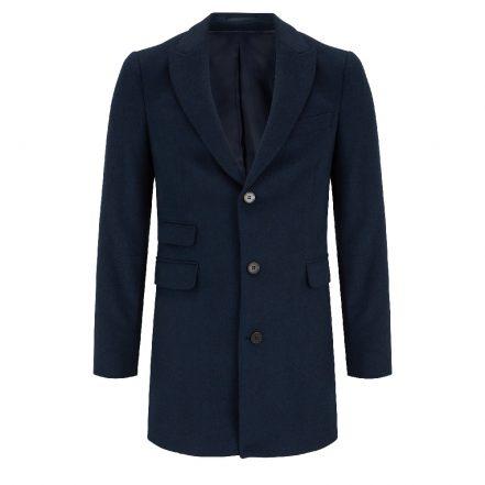 Benetti Navy Wool Coat