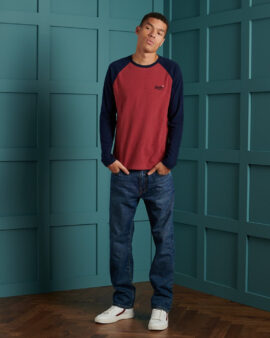 Superdry Organic Cotton Baseball Top Shock