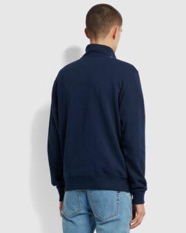 Farah California Cotton Striped Half Zip Sweatshirt