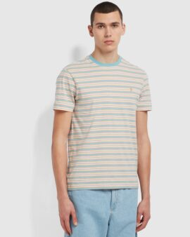 Farah Alginet Slim Fit Striped Organic Cotton T-Shirt