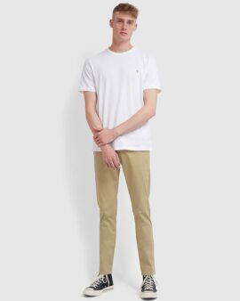 Farah Danny Slim Fit Organic Cotton T-Shirt In White