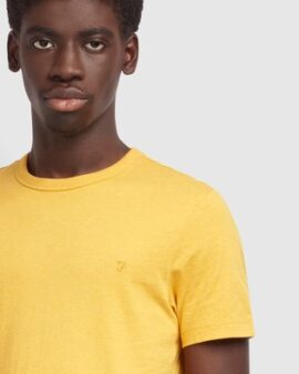Farah Yellow Danny Short Sleeved T-Shirt