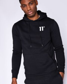11 degrees Core Pullover Hoodie – Black