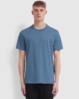 Farah Danny Slim Fit Organic Cotton T-Shirt In Dark Denim Marl