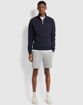 Jim Organic Cotton Quarter Zip Sweatshirt In True Navy