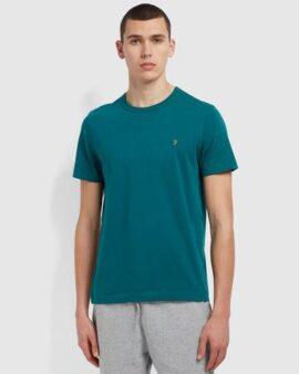 Danny Slim Fit Organic Cotton T-Shirt In Dark Teal