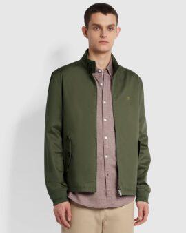 Hardy Organic Cotton Harrington Jacket In Vintage Green