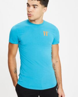 11 Degrees Core Muscle Fit T-Shirt – Blue Coral